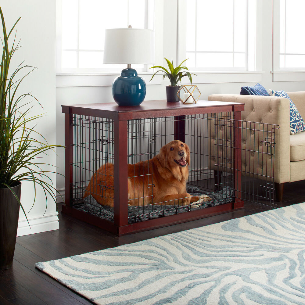 Wooden Pet Crate And Side Table By Merry Products Ebay