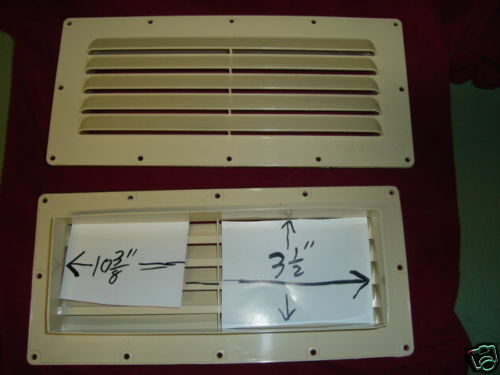 Rv camper trailer louvered wall range hood vent new 103 ebay - Exterior wall vent for rv range hood ...