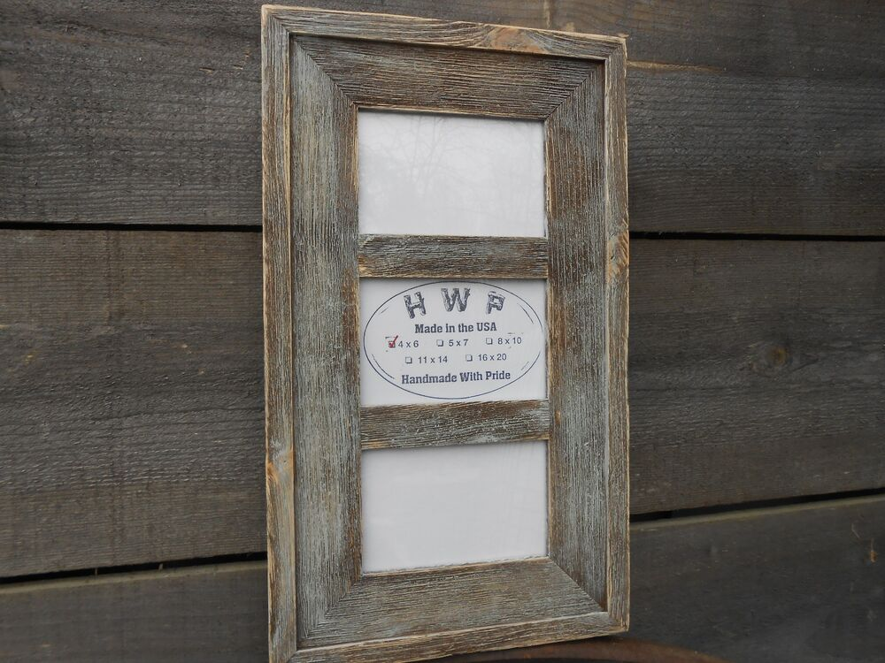 Rustic Barn Wood Collage Picture Frame Handcrafted ...