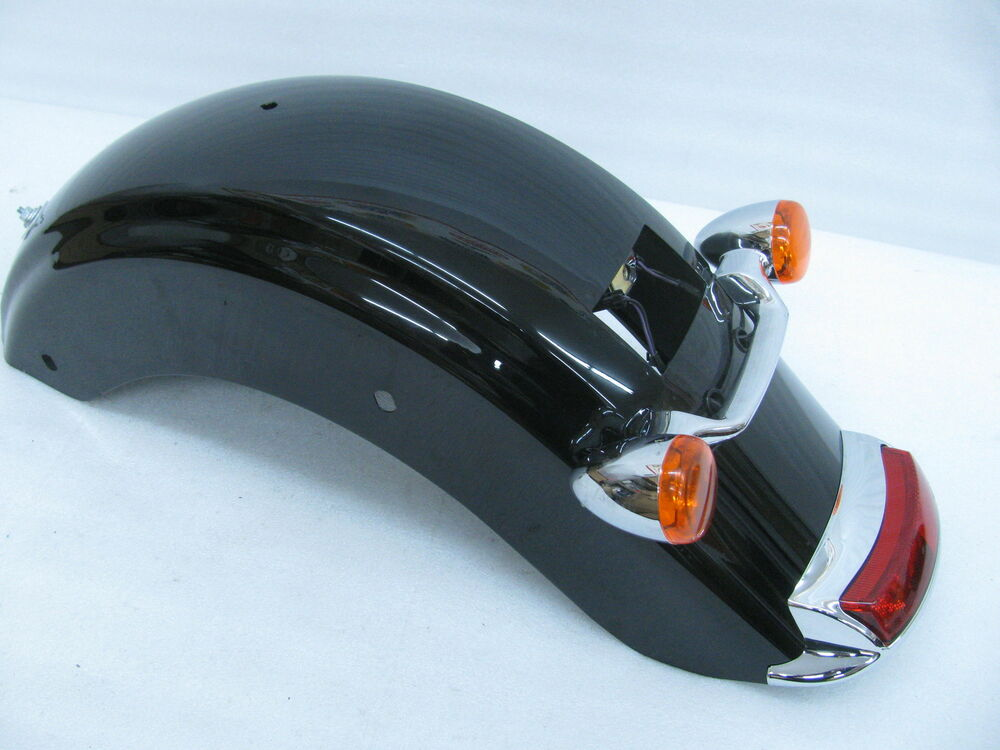 Harley Touring Fenders : Harley davidson touring rear fender black and light