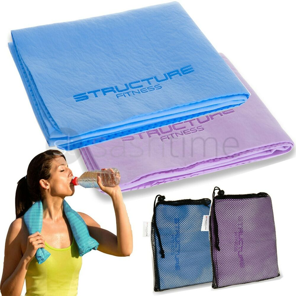 Sweat Towels Sign: NEW INSTANT COOLING TOWEL SPORTS GYM TOWEL DRYING SWEAT