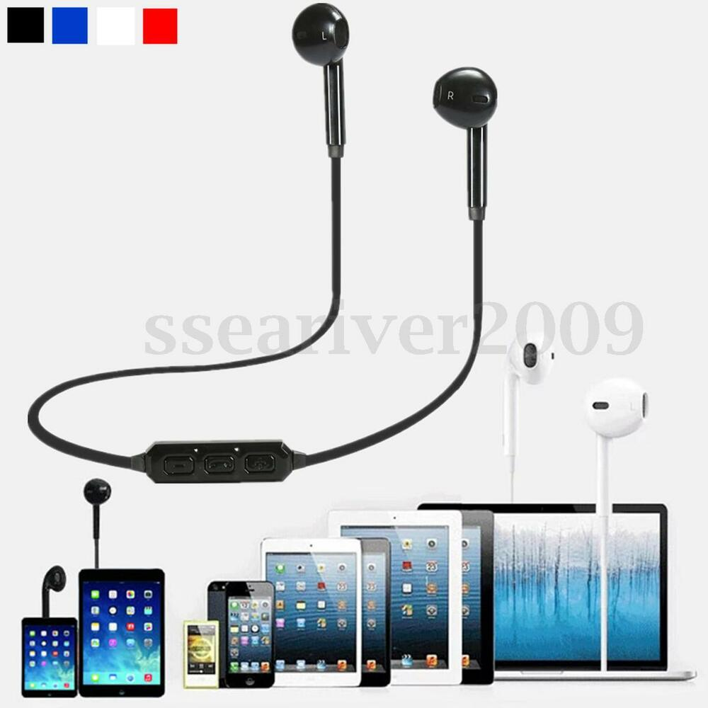 bluetooth v4 1 wireless stereo headphone headset earphone for iphone 7 plus ebay. Black Bedroom Furniture Sets. Home Design Ideas