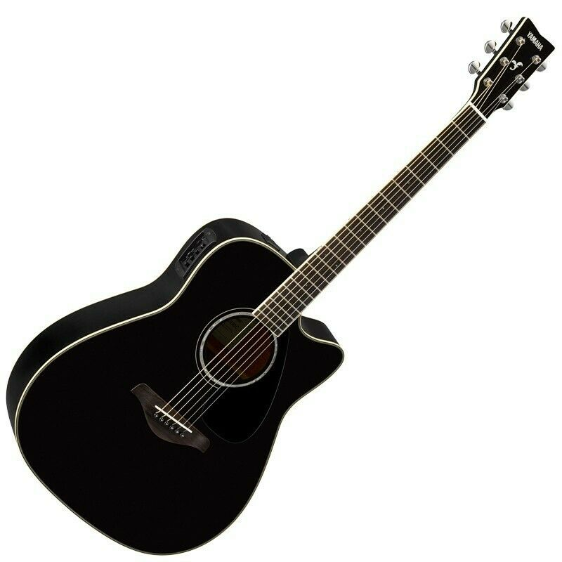 yamaha fgx830c acoustic electric guitar black ebay. Black Bedroom Furniture Sets. Home Design Ideas