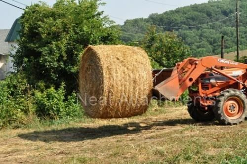 Hay Tractor With Loader : Hd double bale spear attachment for loader and skid steer
