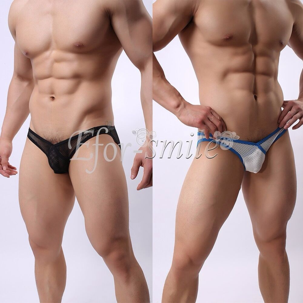 Cuz mens sheer bikini swimwear love and