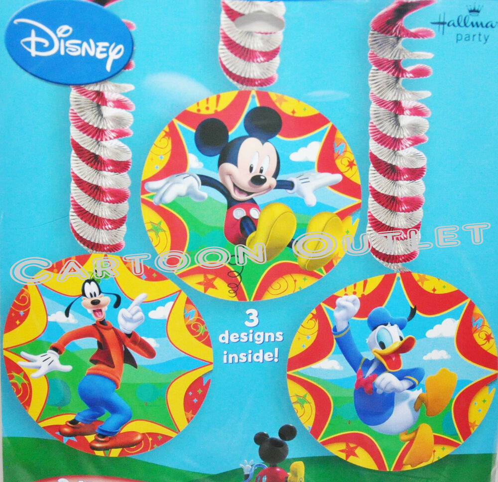 MICKEY MOUSE DANGLERS DECORATIONS HANGING BIRTHDAY PARTY
