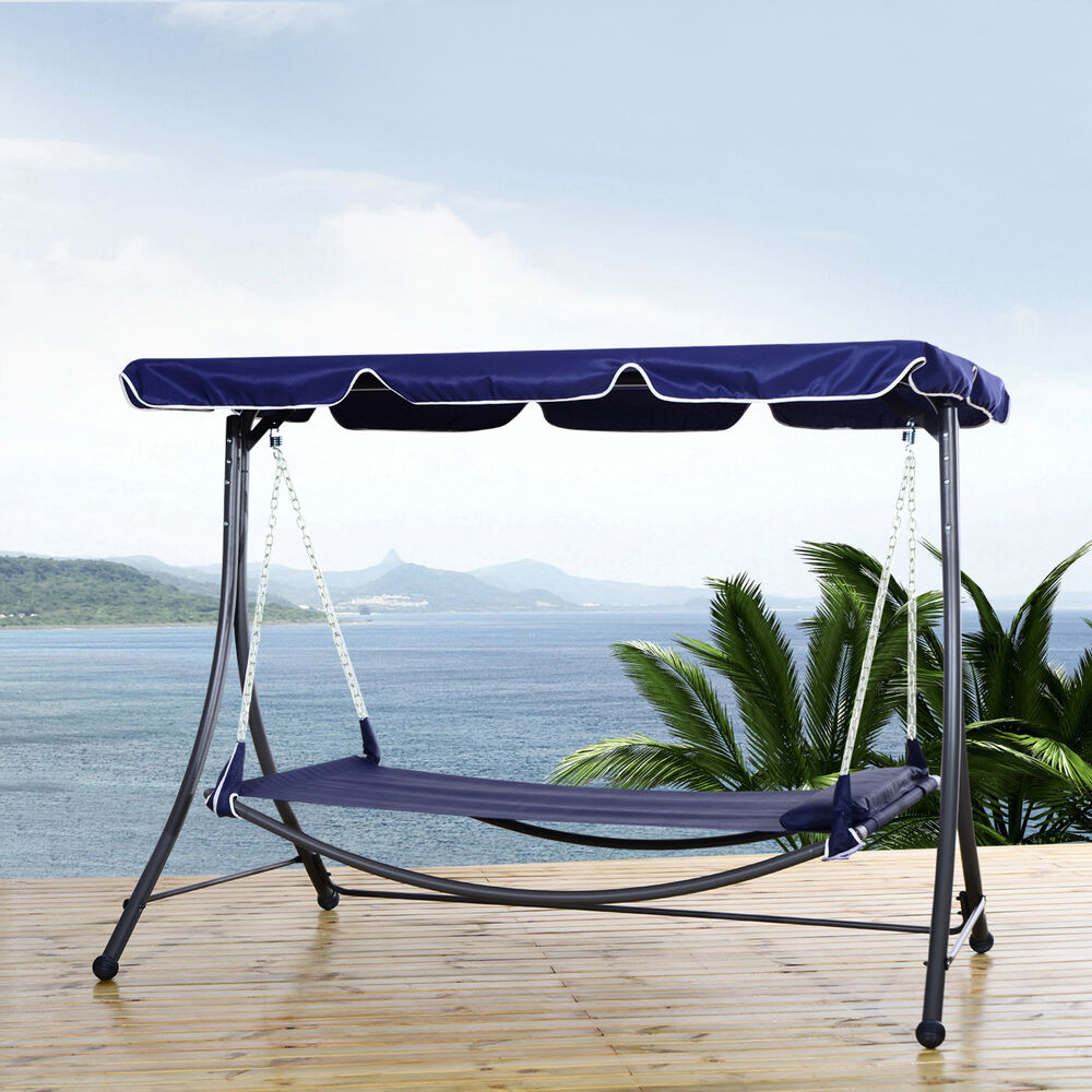 Porch swing hammock outdoor hanging sleeping bed patio for Pool canopy bed