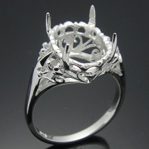 View Full Gallery Of Unique Engagement Rings Wedding Rings: Sterling Silver 925 Unique Engagement Wedding Fine Ring