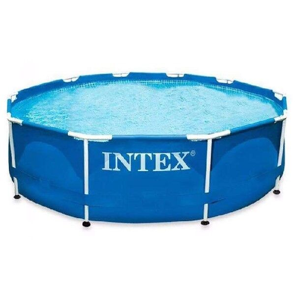 intex 28200np frame set round swimming pool inflatable medium x 76cm high ebay. Black Bedroom Furniture Sets. Home Design Ideas