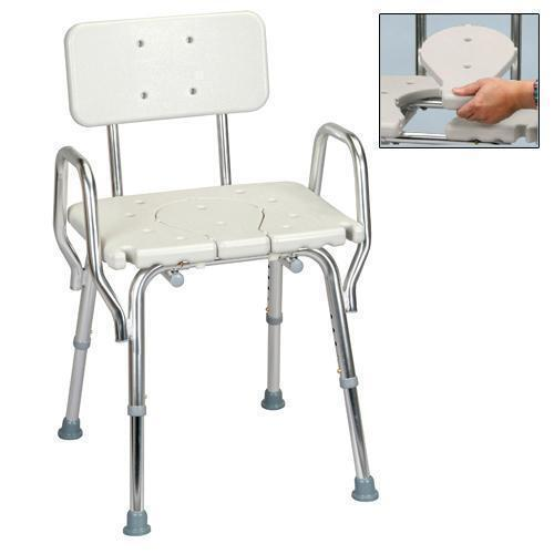 Eagle Health Bath Shower Chair W Back Arms Amp Replaceable