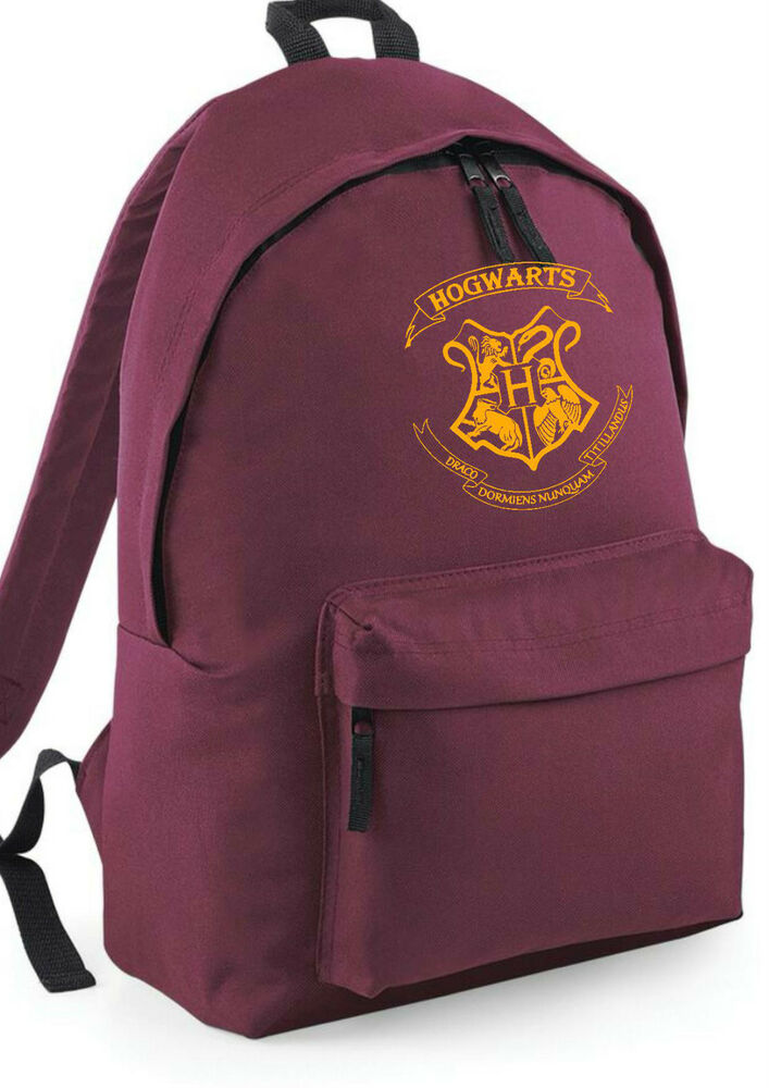 hogwarts crest harry potter backpack rucksack school. Black Bedroom Furniture Sets. Home Design Ideas