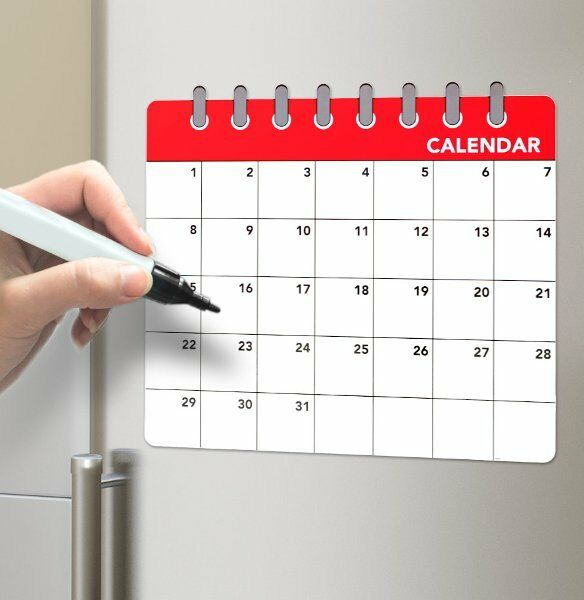 Diy Refrigerator Calendar : Calendar magnetic fridge board drywipe large monthly