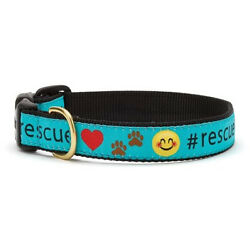 Up Country - Dog Puppy Design Collar - Made In USA - Rescue - XS S M L XL XXL