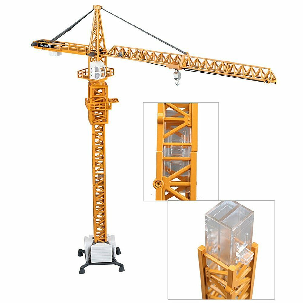 Kdw 1 50 scale diecast tower slewing crane construction for Finestra scala 1 50