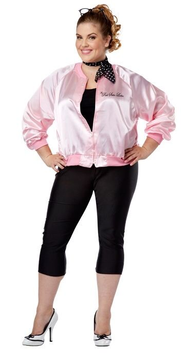 50's GREASE PINK Ladies Jacket RIZZO Frecnhy Adult Women's ...