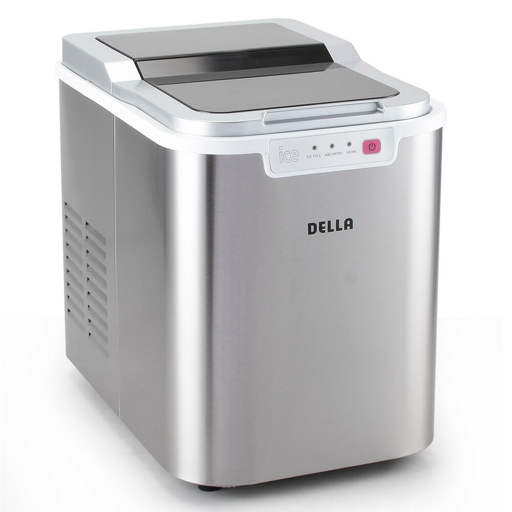 Deluxe Ice Maker Portable Counter Top Machine Travel BBQ