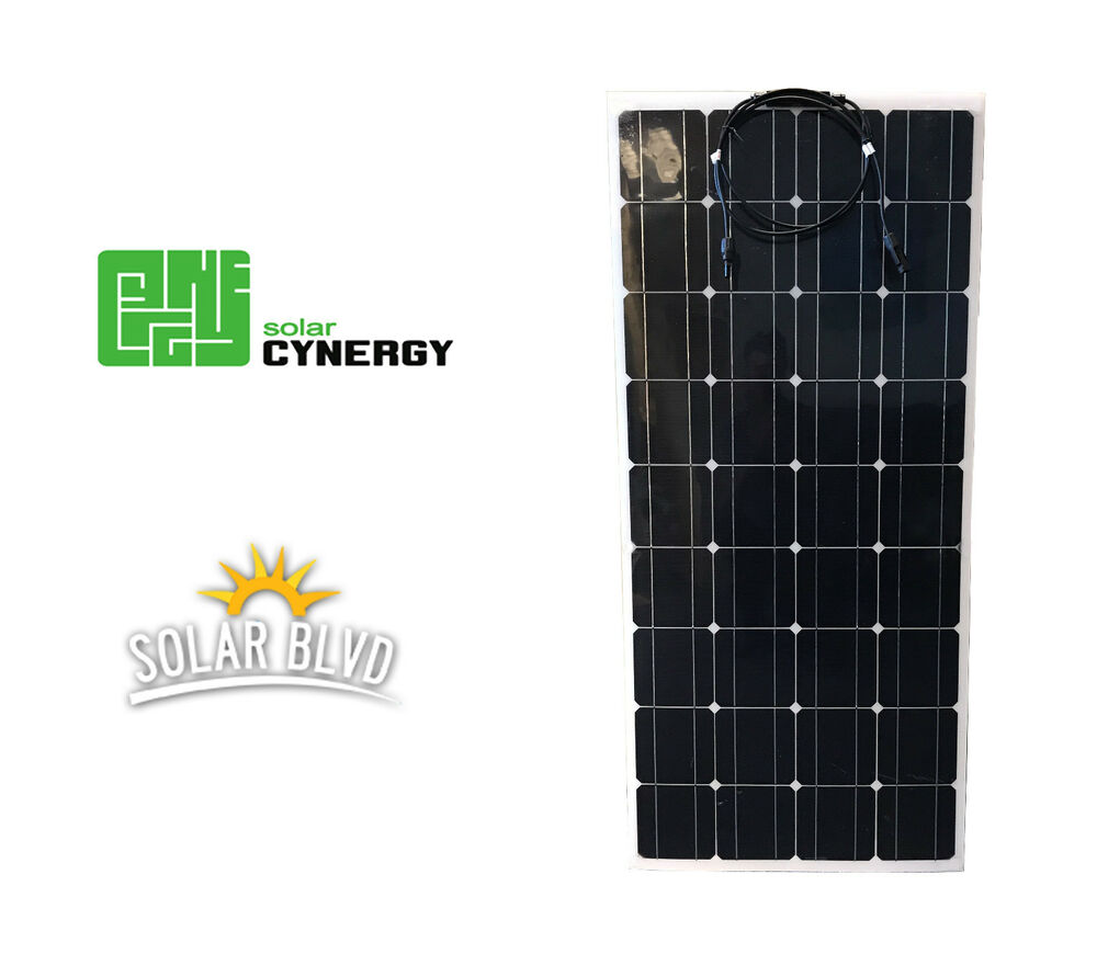 Solar Cynergy 120 Watt 12 Volt Mono Flexible Bendable