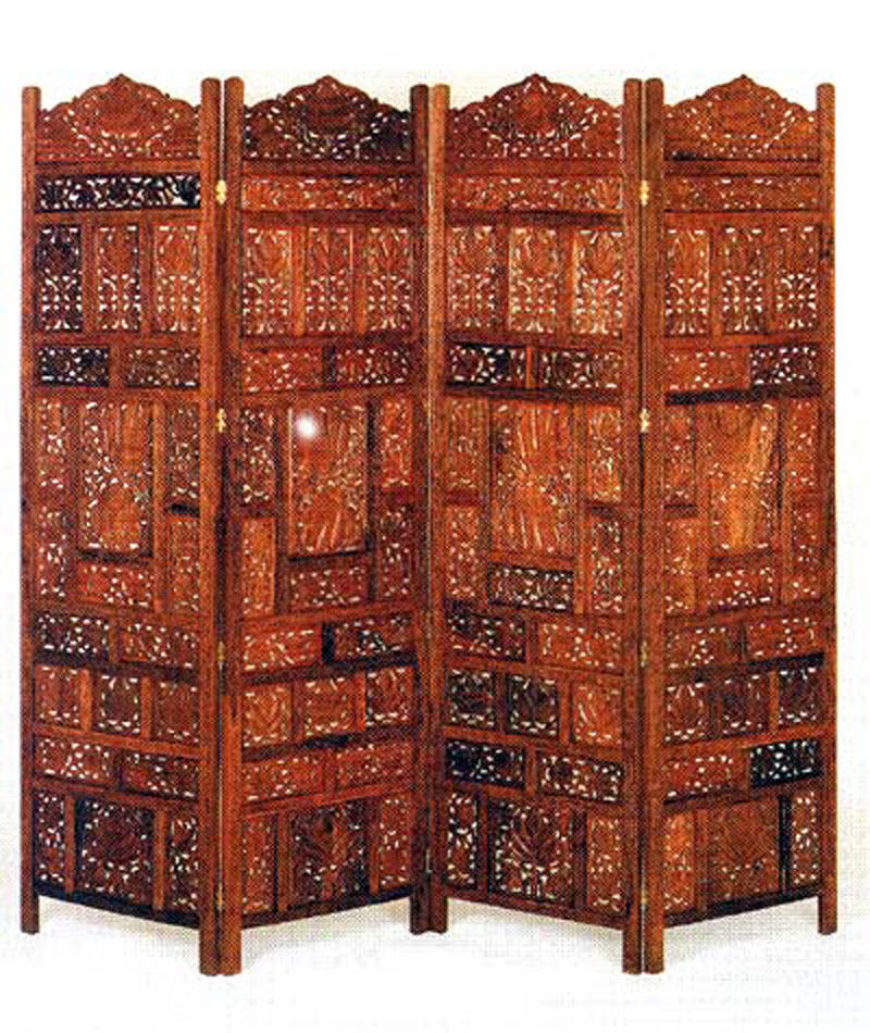 Carved Wood Screens ~ Hand carved solid wood screen room partitions ebay