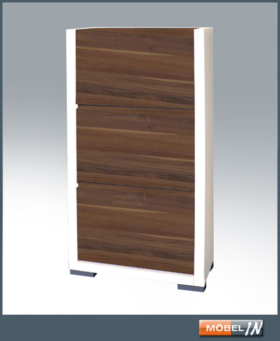 schuhschrank garderobe regal schrank weiss nussbaum ebay. Black Bedroom Furniture Sets. Home Design Ideas