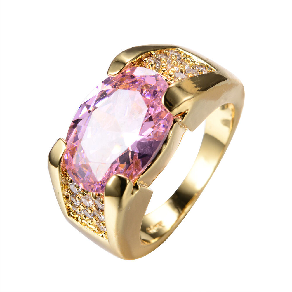 size 6 12 pink sapphire big stone engagement ring womens. Black Bedroom Furniture Sets. Home Design Ideas