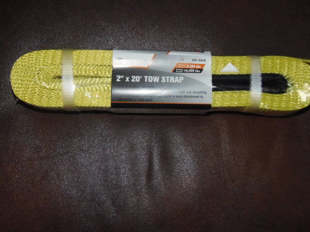 2 x20ft tow strap 10 000 lb capacity tow rope towing pulling truck atv m 570 ebay. Black Bedroom Furniture Sets. Home Design Ideas