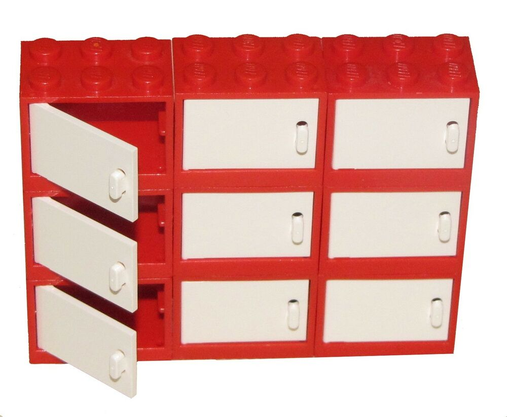 ☀️new Lego Lot Of 9 Red Cupboard Container Drawers W