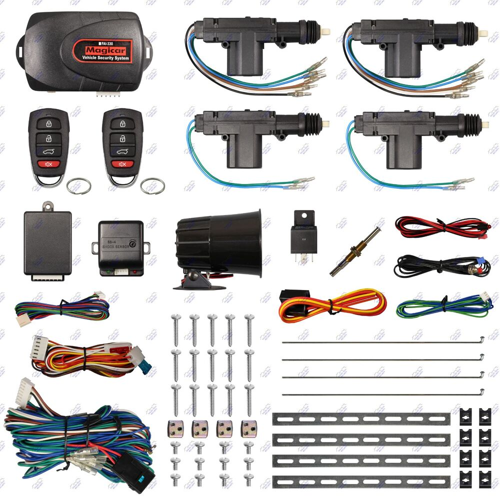 Remote Car Alarm Keyless Entry Security 2 4 Door Power Lock 2000 Lexus Lx470 Wiring Diagram Actuator Motor Kit Ebay