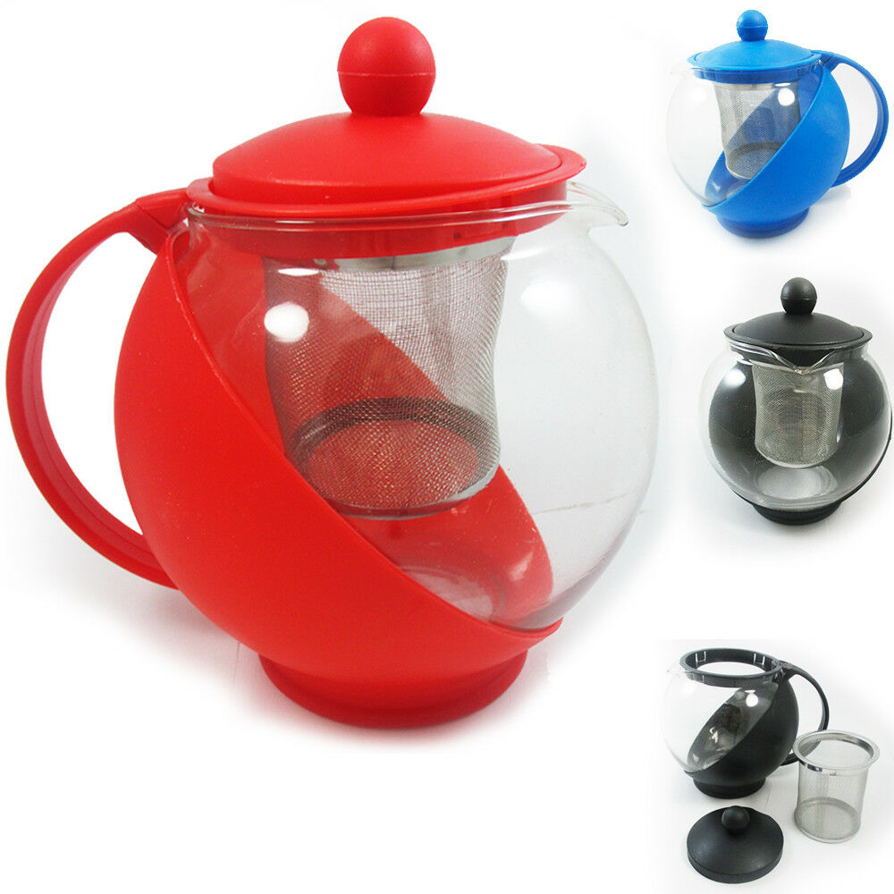 1 pc glass tea kettle pot thermo teapot filter brewer steep infuser coffee 25 oz ebay. Black Bedroom Furniture Sets. Home Design Ideas