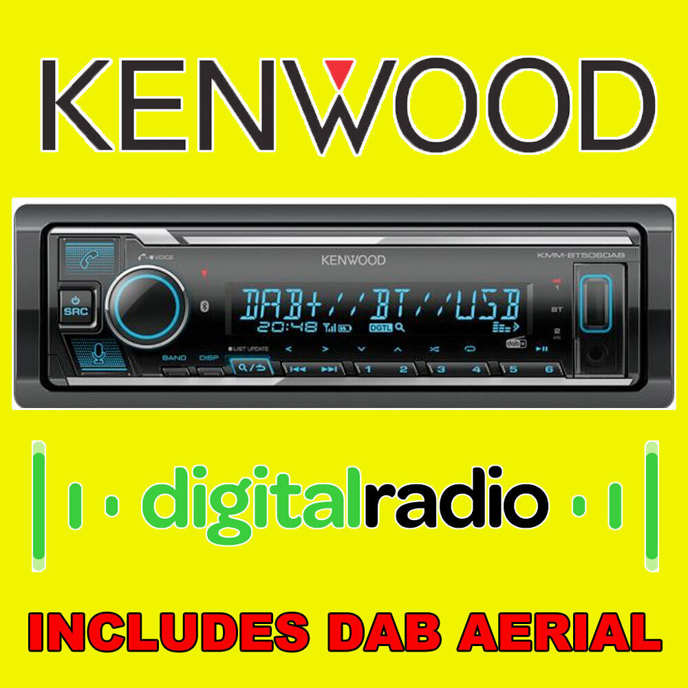 kenwood bluetooth digital media receiver car radio stereo. Black Bedroom Furniture Sets. Home Design Ideas