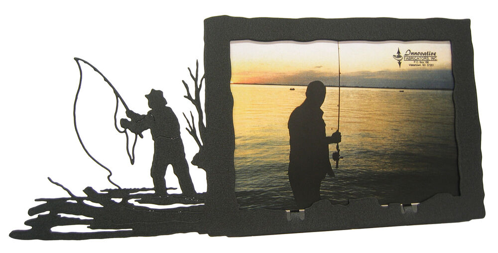 Fly fishing picture frame 5 x7 h fly fishing ebay for Fishing picture frame