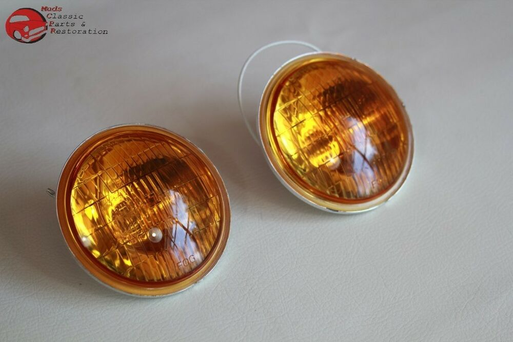 12 Volt Led Fog Lights : Amber lens fog lamp light replacement bulbs vintage style