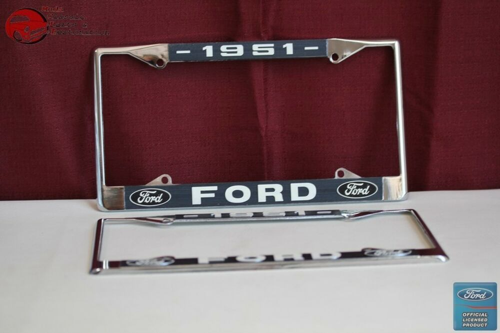 1951 Ford Car Pick Up Truck Front Rear License Plate