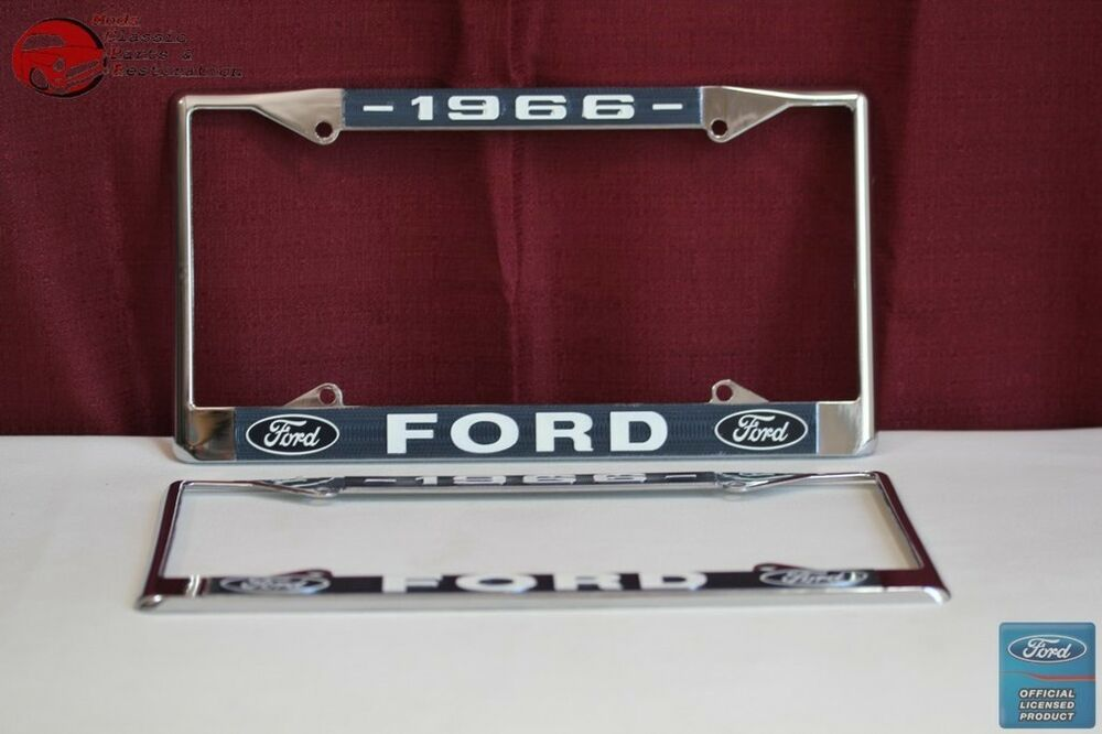 1966 Ford Car Pick Up Truck Front Rear License Plate