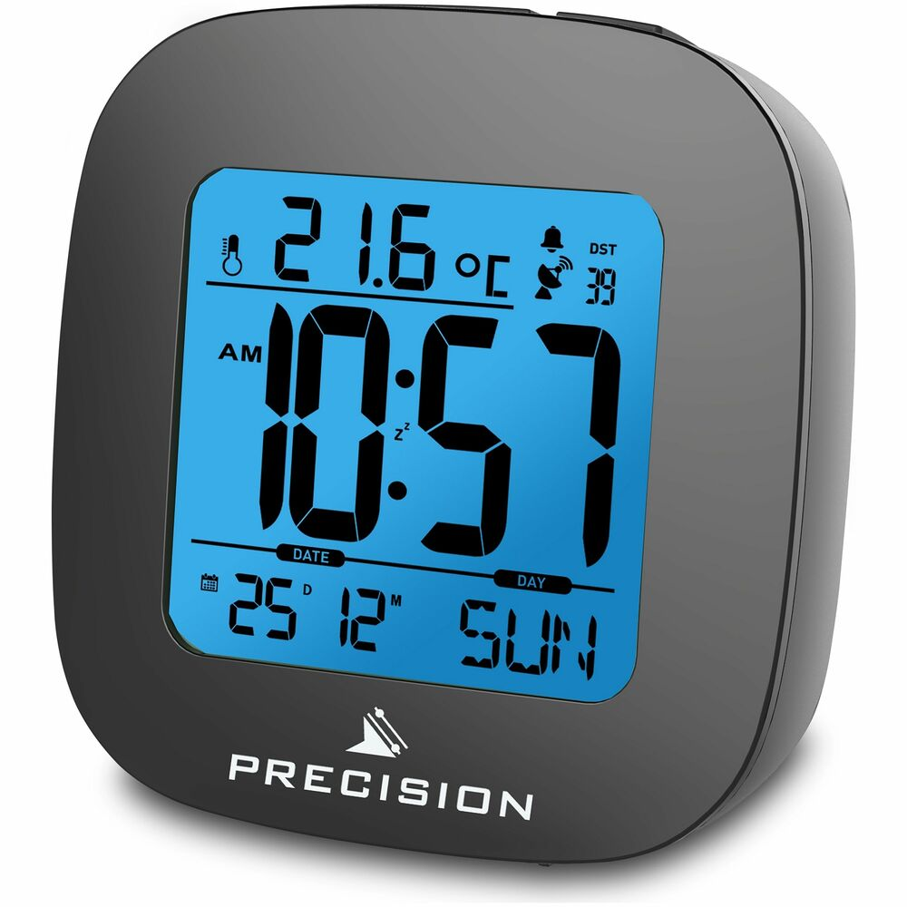 precision radio controlled lcd alarm clock from the. Black Bedroom Furniture Sets. Home Design Ideas