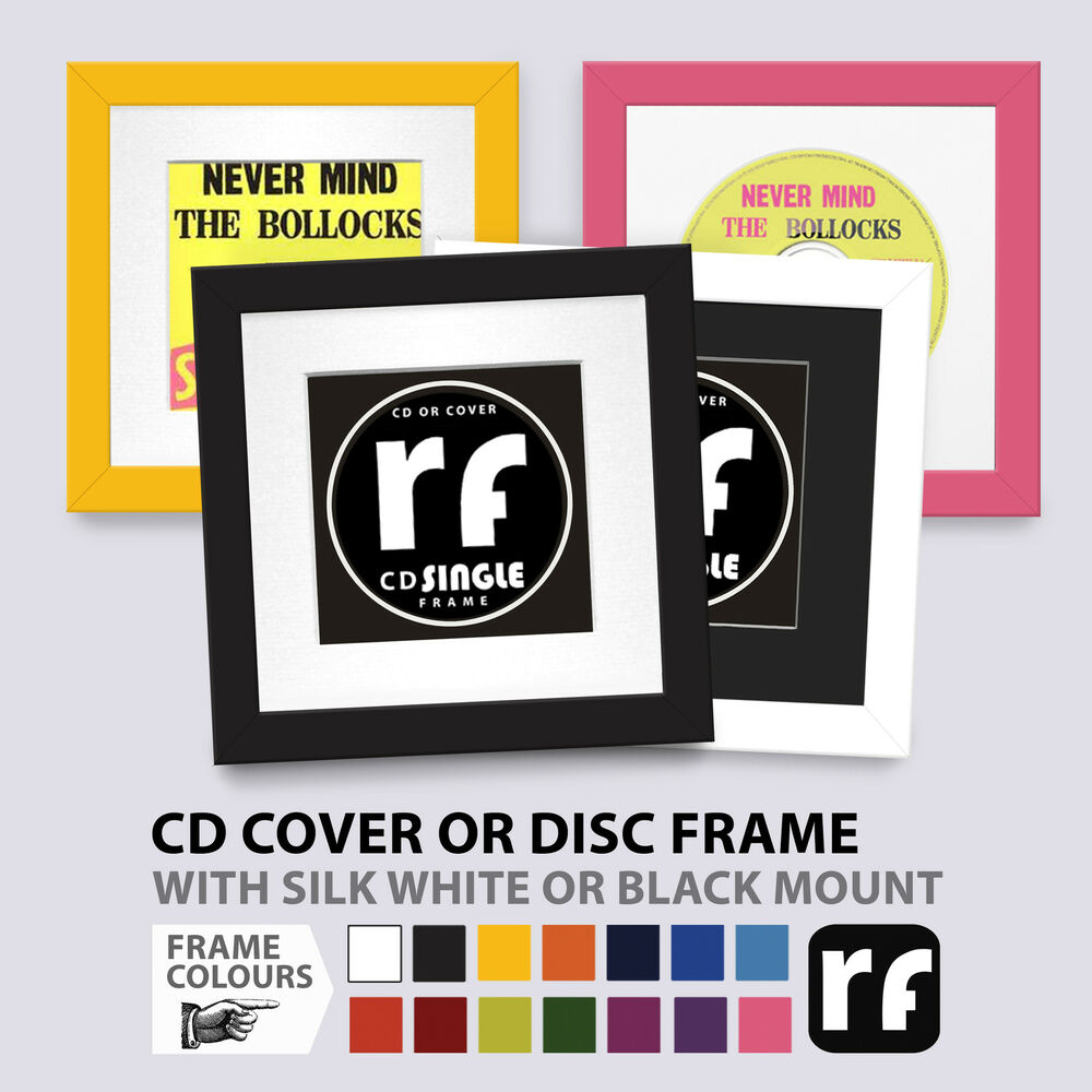 CD Frame DISC OR COVER \'Single\' Wood Black White Colours Collectors ...