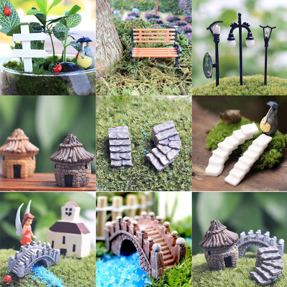 Buy Doll Furnishing Articles Resin Crafts Home Decoration: Figurine Craft Plant Pot Garden Ornament Miniature Fairy