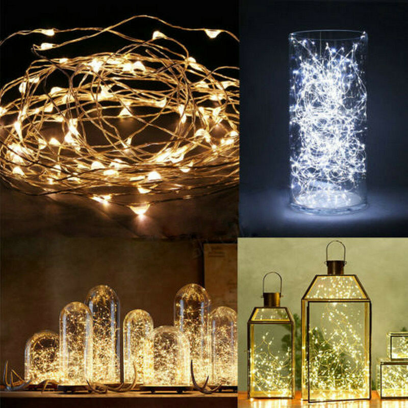 20/30/50/100 LED String Fairy Lights Copper Wire Battery Powered Waterproof DIY eBay
