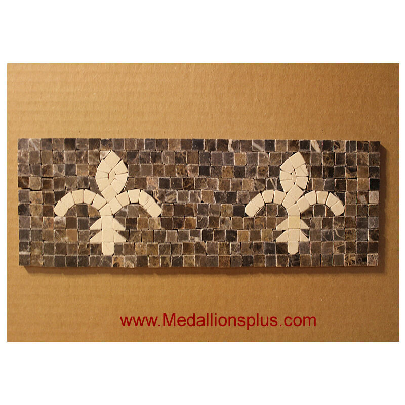mosaic border tiles bathrooms fleur de liz mosaic 4x12 quot granite marble tile bathroom 19656