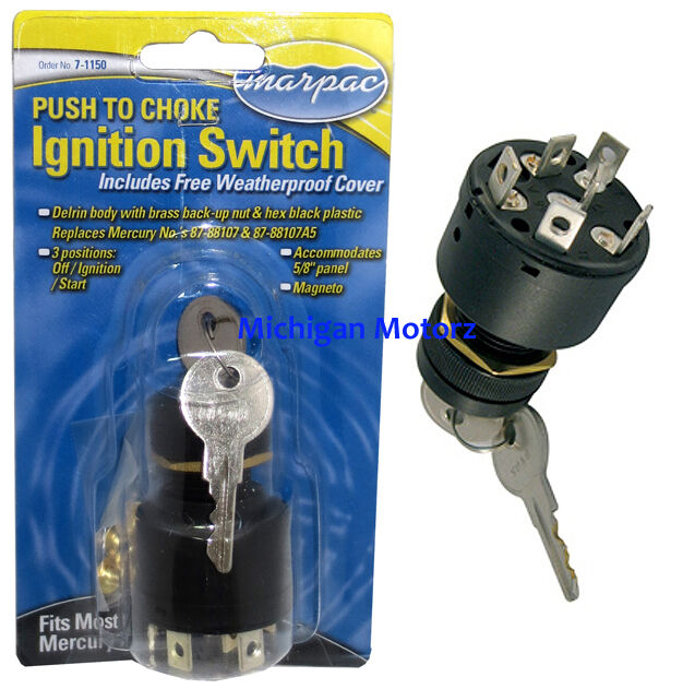 push to choke ignition switch 3 position mercruiser 87 88107 7 1150 ebay