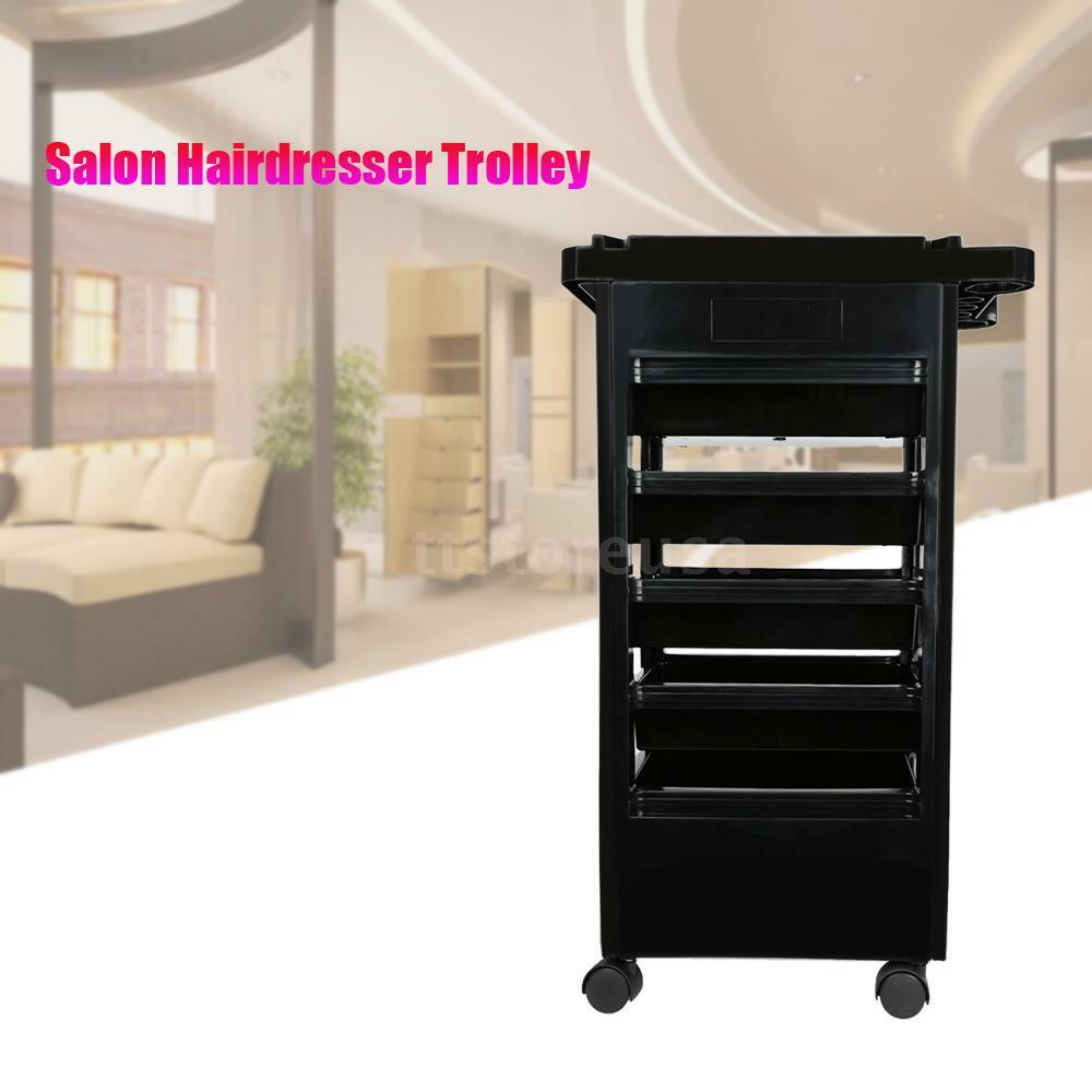5 drawers hairdressing storage trolley salon rolling for A 1 beauty salon
