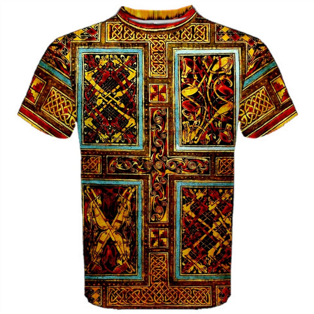 Persian Rug Tattoo: Celtic Carpet T-Shirt All Over Print 8th Century St Gall