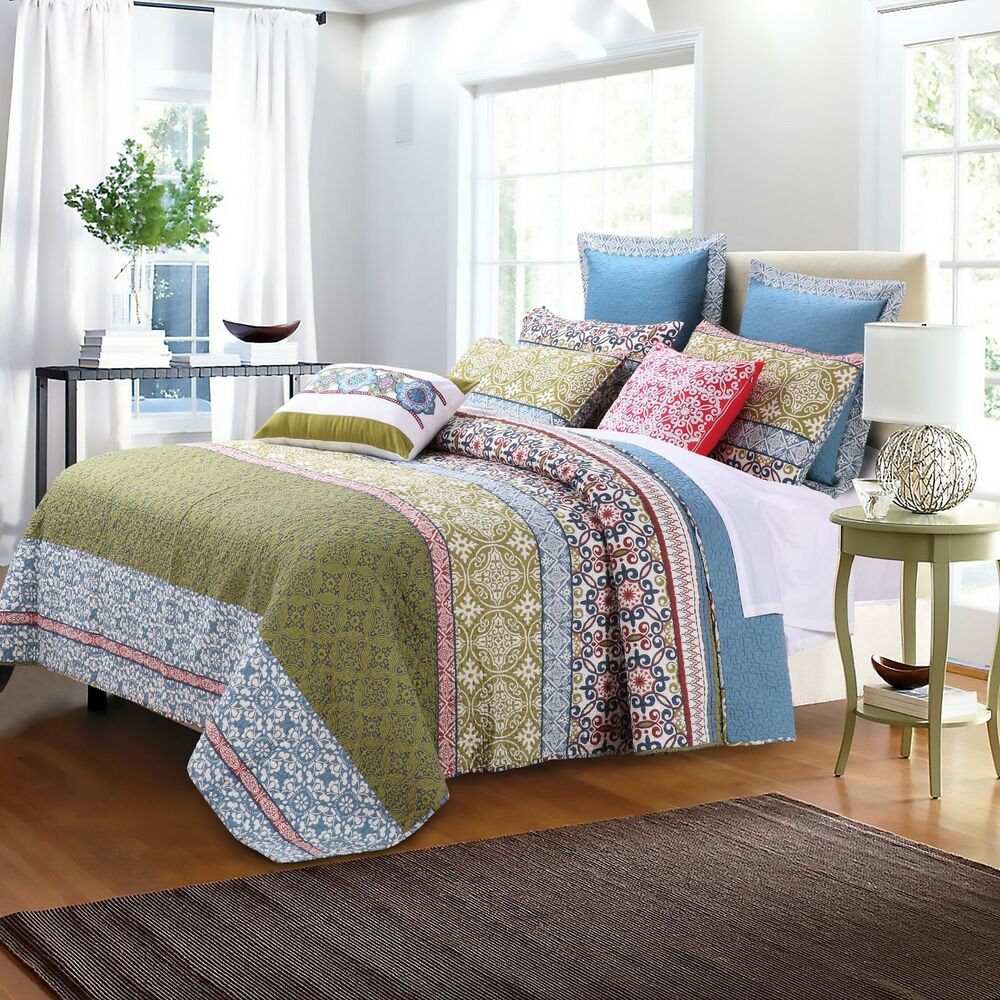 Greenland home fashions shangri la oversized cotton 3 for Home piece
