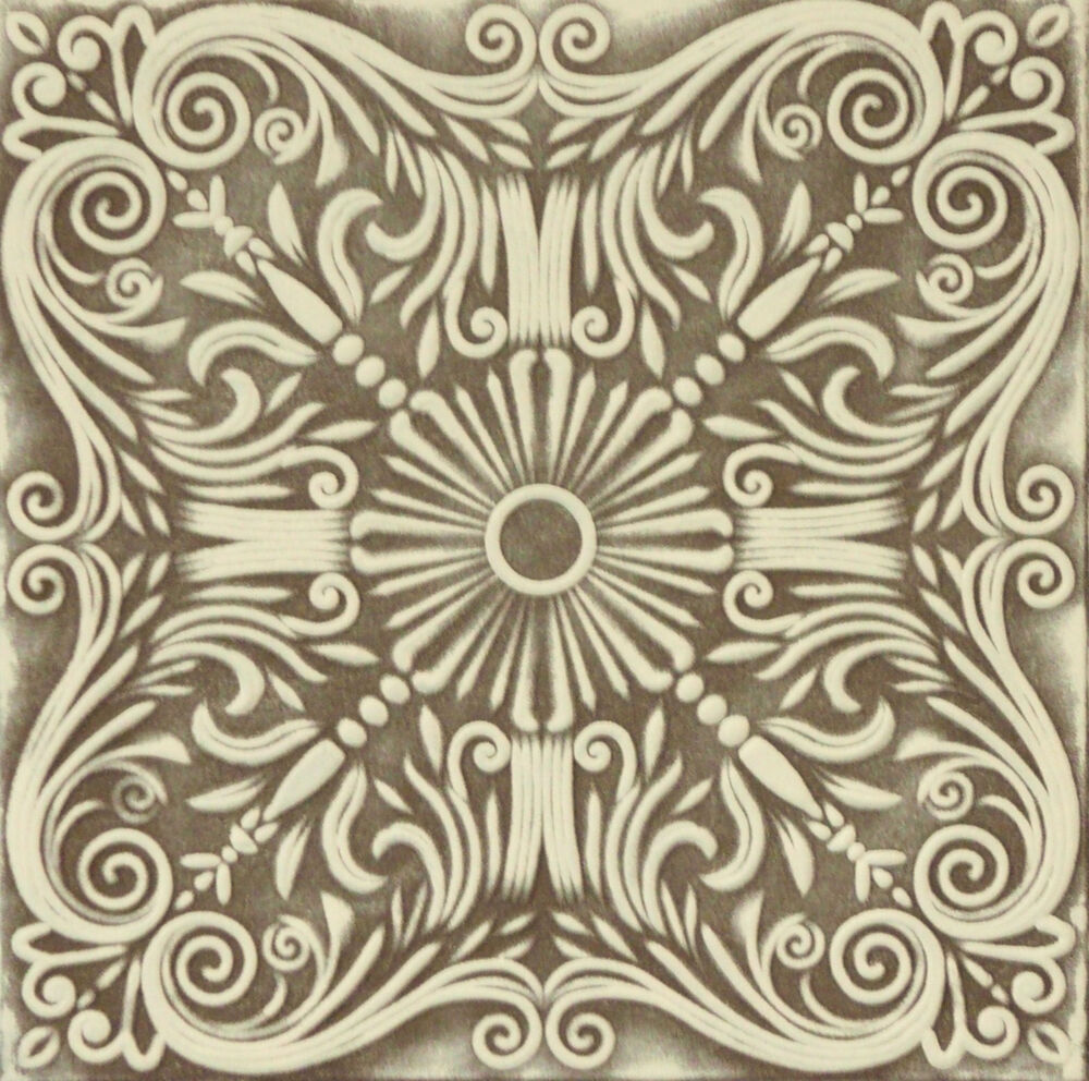 Decorative Texture Ceiling Tiles Glue Up R39 Brown White
