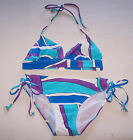 Target Ladies Blue / Purple Printed 2 Piece Bikini Bathers Swimsuit Size 10 New