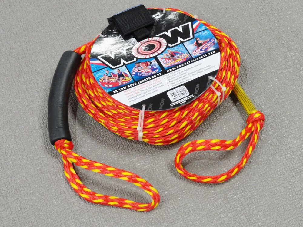 New Wow 3  8 U0026quot  X 60 U0026 39  Tow Rope 2k 1 Or 2 Rider Towable Inflatable Ski Tube 11