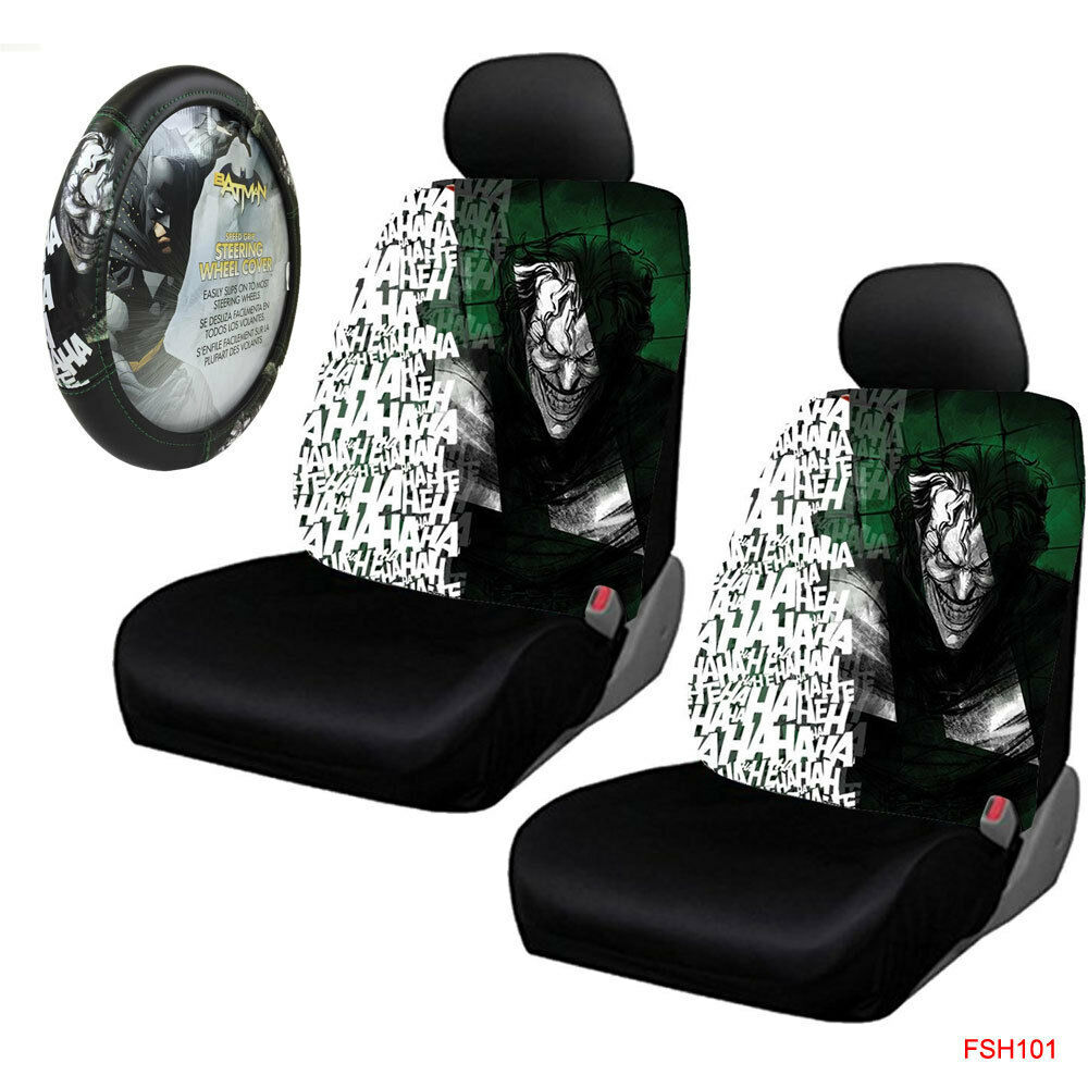 New Batman Joker Laughs Car Truck 2 Front Seat Covers