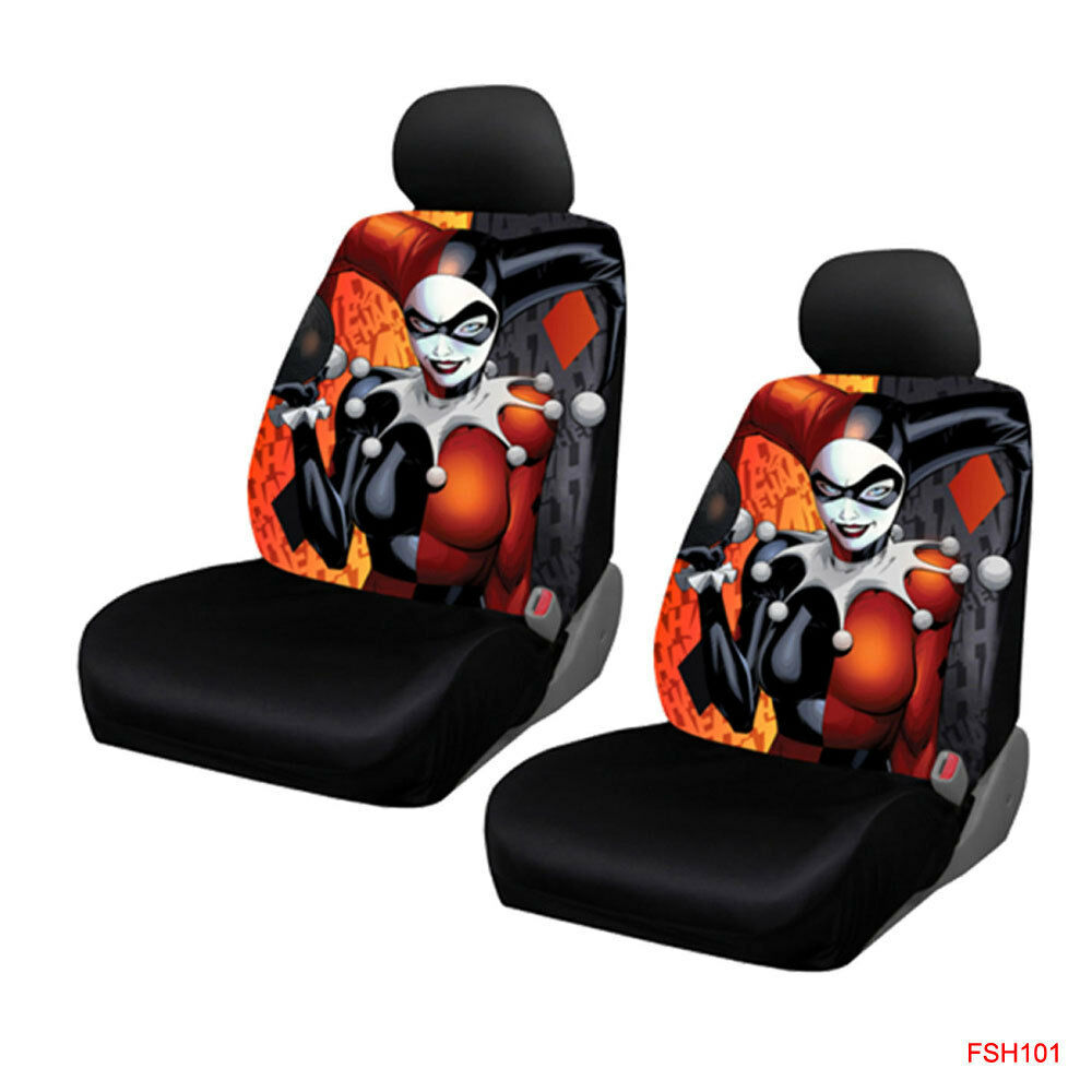 Ebay Car Seat Covers >> New Suicide Squad Harley Quinn laughs Car Truck 2 Front Seat Covers Set | eBay