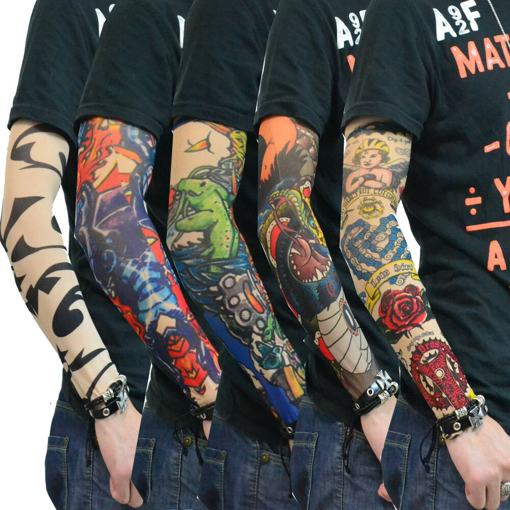 Wholesale 100 pairs tatoo sleeves tattoo arm stockings for Wholesale temporary tattoos