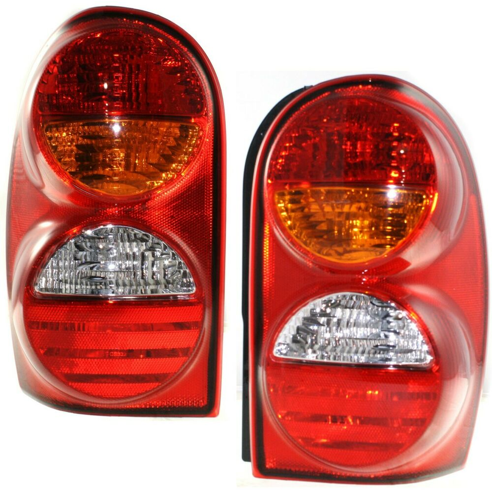 Details About Set Of 2 Tail Light For 2002 2004 Jeep Liberty Sport Lh Rh W Bulb S