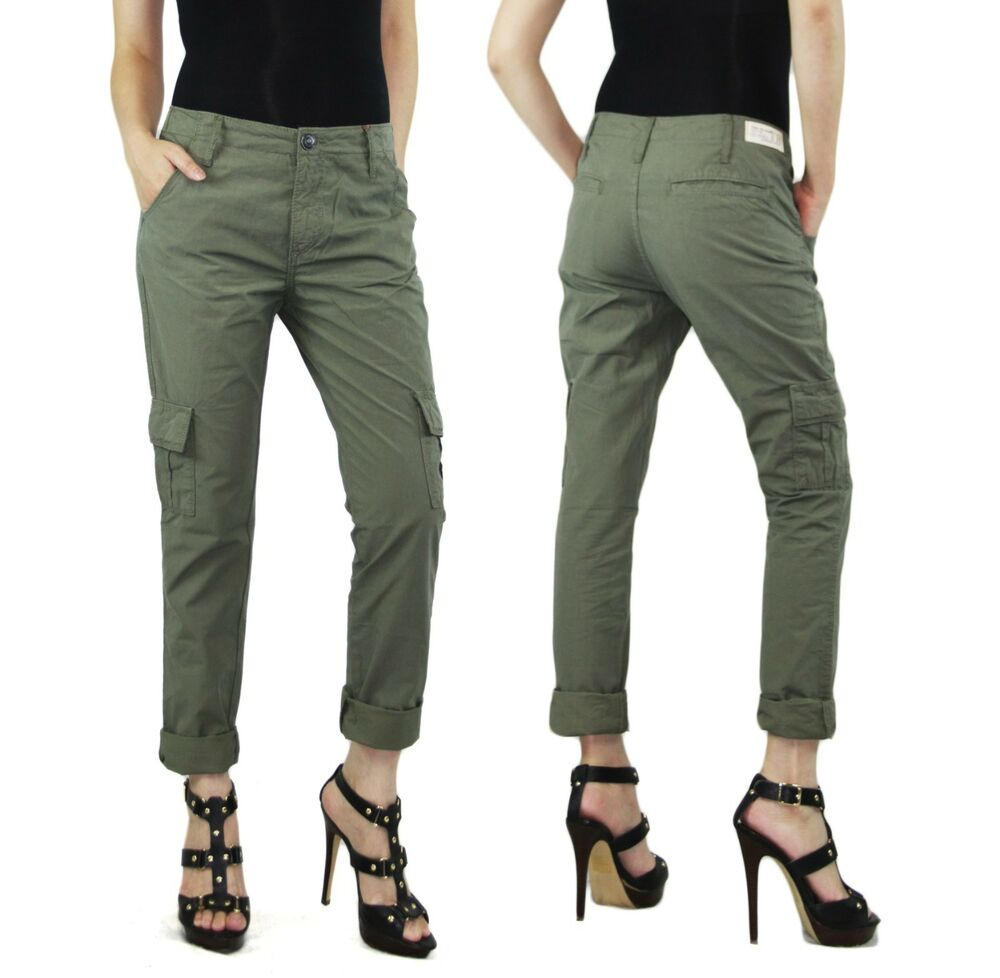 Awesome Womens Military New Fashion Cargo Pocket Pant Girls Casual Outdoor